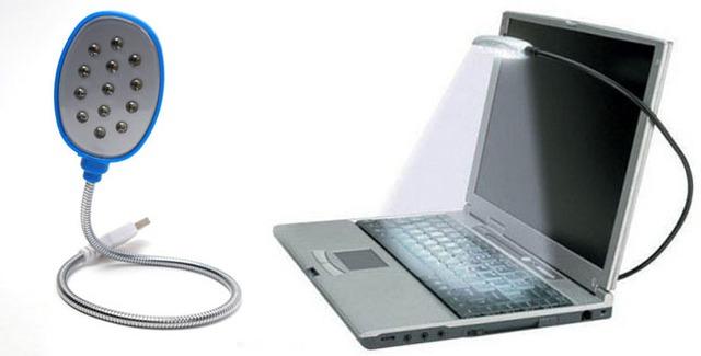 Ngoài trang trí, hiện trên thị trường còn xuất hiện loại đèn Led chân cắm USB dùng để rọi bàn phím máy tính rất tiện dụng cho những người làm việc khuya mà không ảnh hưởng đến người xung quanh