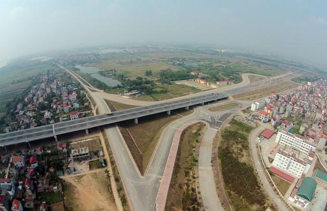 Quy hoạch hai bên trục đường Nhật Tân - Nội Bài được xây dựng góp phần tạo nên một Thủ đô xứng tầm. Ảnh: Hoàng Hà