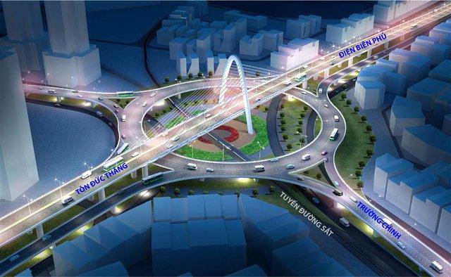 Và dự án Nút giao thông Khác mức Ngã Ba Huế sau khi hoàn thành sẽ khơi thông dòng chảy tại cửa ngõ phía Tây - Bắc thành phố Đà Nẵng. Đây là ngã ba giao cắt giữa đường Tôn Đức Thắng với đường Điện Biên Phủ và đường Trường Chinh có cả đường sắt Bắc - Nam đi qua. Với 17 mẫu thiết kế của 7 đơn vị trong nước, liên danh trong và ngoài nước, cuối cùng phương án được lựa chọn để lập dự án đầu tư là nút giao thông lập thể hình xuyến kết hợp cầu vượt ba tầng.
