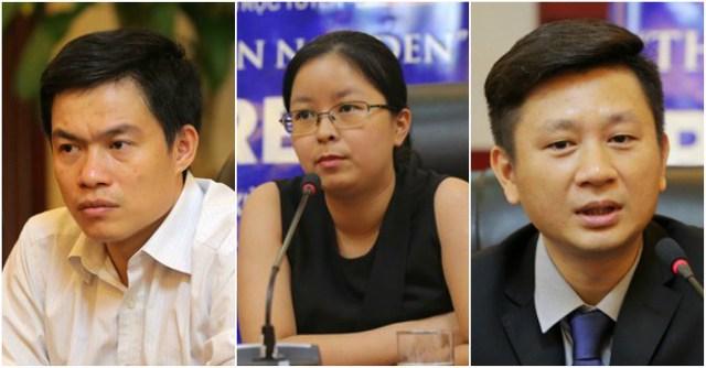 Từ trái qua: Ông Lê Đức Khánh, bà Nguyễn Mai Phương, ông Nguyễn Đức Hùng Linh