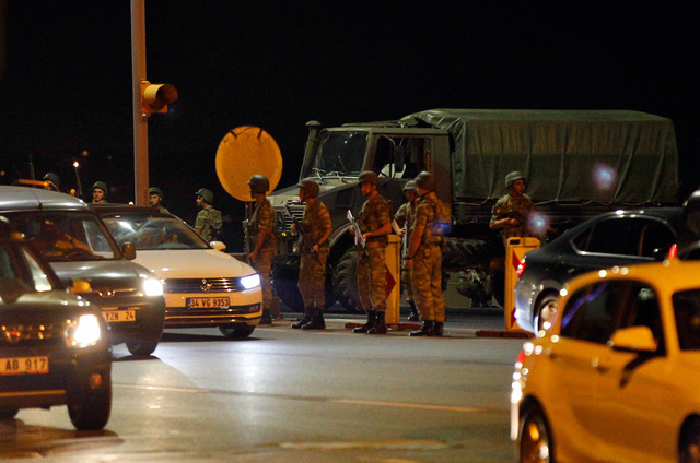 Lực lượng quân đội Thổ Nhĩ Kỳ. Ảnh: Emrah Gurel/AP