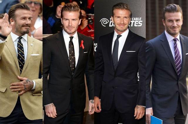 Cà vạt là điểm nhấn trong bộ đồ của doanh nhân Beckham.