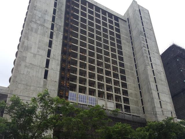 Dự án khách sạn cao cấp Hyatt đang thi công hoàn thiện phần thô