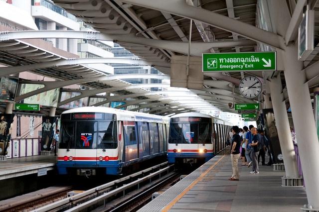 Hệ thống tàu hỏa trên cao (BTS) tại thủ đô Bangkok.