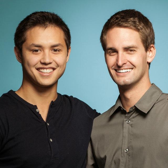 Hai tỷ phú trẻ Evan Spiegel và Bobby Murphy.