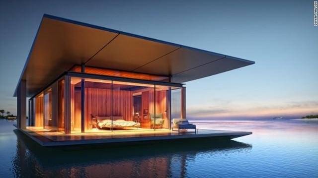 Ngôi nhà nổi này do kiến trúc sư người Singapore Dymitr Malcew thiết kế. Mỗi phần của ngôi nhà đều rất vững chắc cùng với hệ thống nước tinh khiết và nguồn điện phát ra từ pin năng lượng mặt trời.