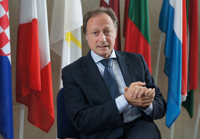 Đại sứ, Trưởng phái đoàn Liên minh châu Âu (EU) Bruno Angelet. Ảnh: Linh Anh