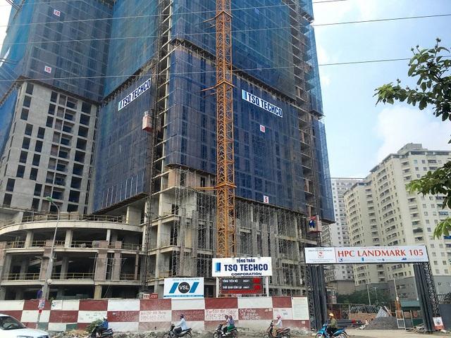 Công trình HPC Landmark 105 chính là tòa 105 CT2 Usilk City mà Hải Phát đã mua lại, đã rót trên 500 tỉ đồng, hiện đã xây đến tầng 34, dự kiến cất nóc 22/7 tới. Đây là tòa đầu tiên mà đại gia này nhảy vào giải cứu dự án tai tiếng Usilk City.
