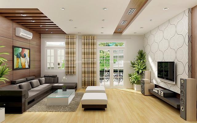 Cửa chính vào nhà cần phải cao thoáng và phù hợp với ngôi nhà.