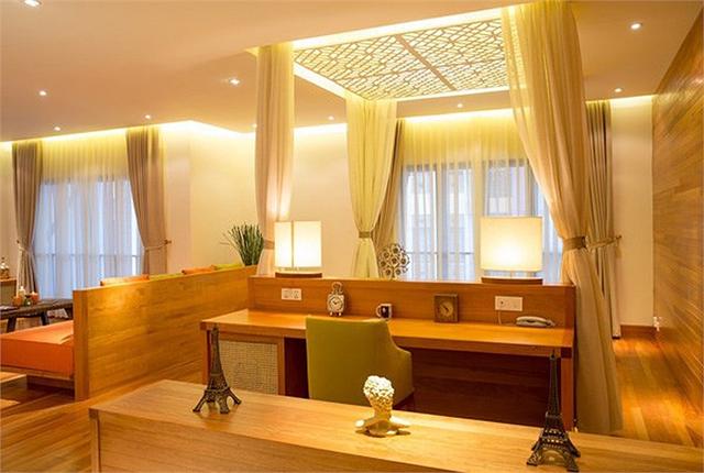 Từng góc nhỏ trong căn nhà đều được trang trí gọn gàng, hiện đại mà không kém phần sang trọng.