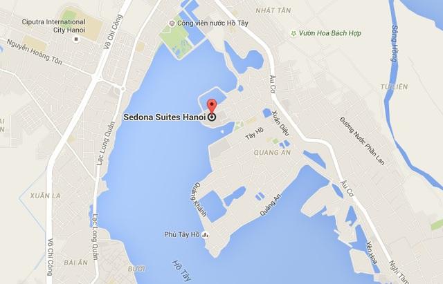 Vị trí khách sạn Sedona Suite Hanoi