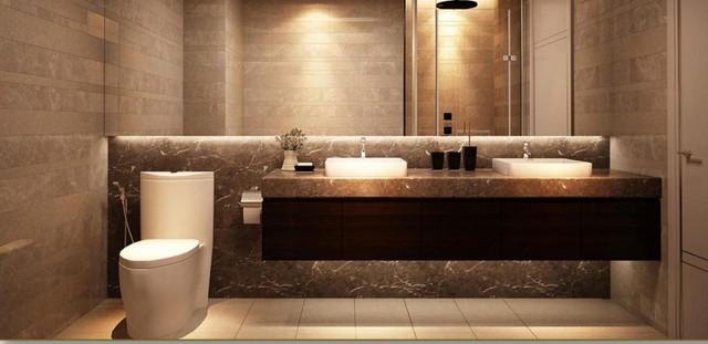 Nội thất phòng vệ sinh khá sang trọng