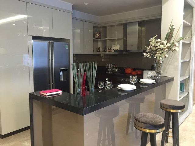 Phòng bếp có thiết kế hiện đại