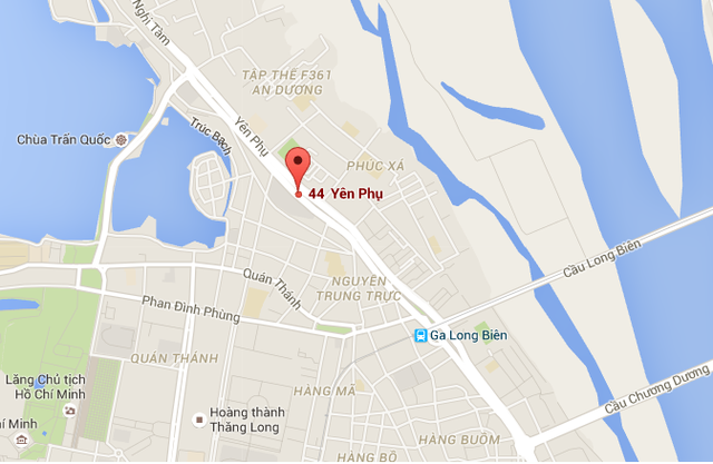 Tòa hỗn hợp nằm trên đường Yên Phụ ngay gần Hồ Tây
