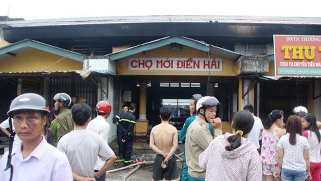 Huế: Cháy lớn ở chợ Điền Hải