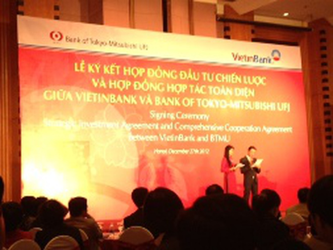 VietinBank thu về 743 triệu USD từ việc bán 20% CP cho NĐT chiến lược Bank of Tokyo-Mitsubishi UFJ